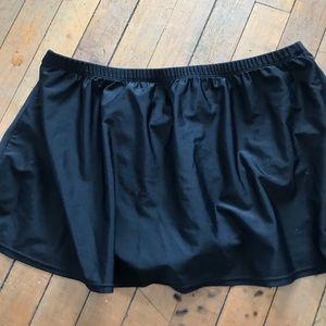 St. John bay black swim skirt, bottom